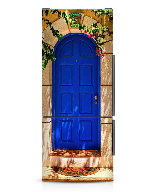 Blue Door - Magnetic Refrigerator Skins Kudu Magnets