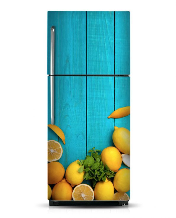 Lemons - Magnetic Refrigerator Skins Kudu Magnets