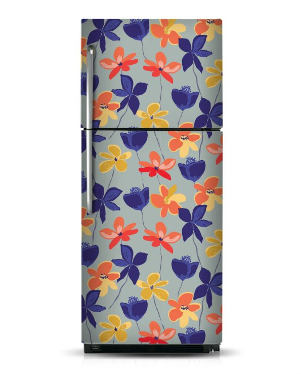 Painted Flowers - Magnetic Refrigerator Skins Kudu Magnets