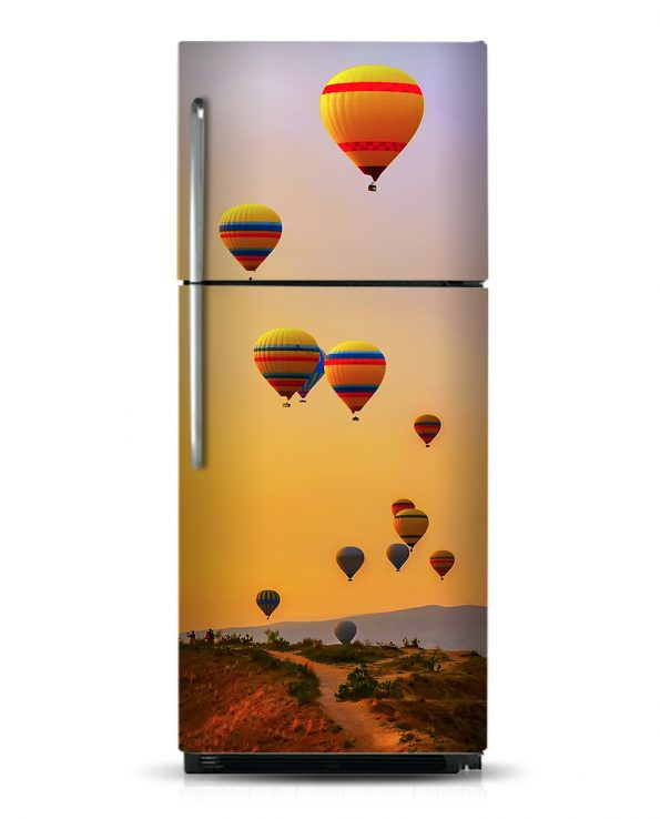 Hot Air Balloons - Magnetic Refrigerator Skins Kudu Magnets