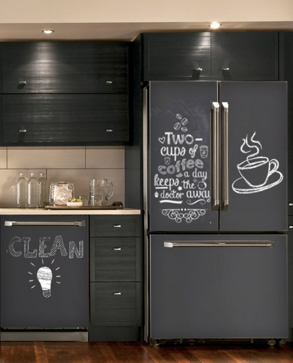 calk-black-hadm - Magnetic Dishwasher Skins Kudu Magnets
