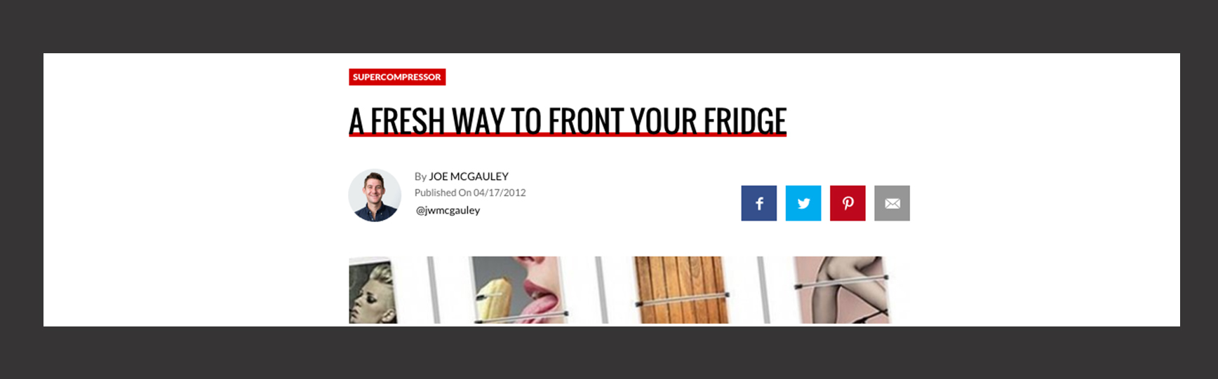 A Fresh Way To Front Your Fridge