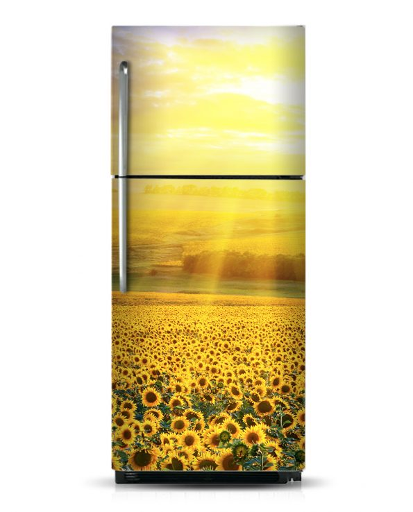 Sunflowers Field - Magnetic Refrigerator Skins Kudu Magnets