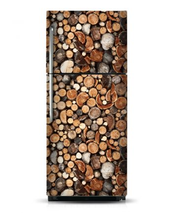 Wood Logs - Magnetic Refrigerator Skins Kudu Magnets